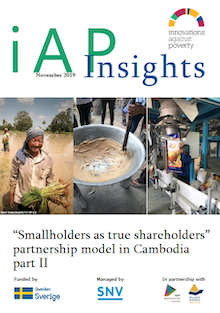 Smallholders as shareholders II